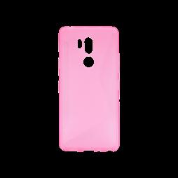 LG G7 ThinQ - Gumiran ovitek (TPU) - roza-prosojen CS-Type