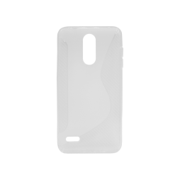 LG K8 (2018)/K9 - Gumiran ovitek (TPU) - belo-prosojen CS-Type