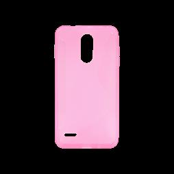 LG K8 (2018)/K9 - Gumiran ovitek (TPU) - roza-prosojen CS-Type