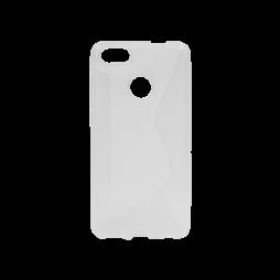 Huawei P9 Lite mini - Gumiran ovitek (TPU) - belo-prosojen CS-Type