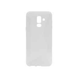Samsung Galaxy A6+ (2018) - Gumiran ovitek (TPU) - belo-prosojen CS-Type