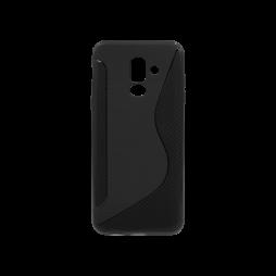 Samsung Galaxy A6+ (2018) - Gumiran ovitek (TPU) - črn CS-Type