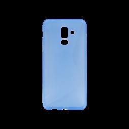 Samsung Galaxy A6+ (2018) - Gumiran ovitek (TPU) - modro-prosojen CS-Type