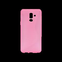 Samsung Galaxy A6+ (2018) - Gumiran ovitek (TPU) - roza-prosojen CS-Type