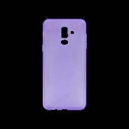 Samsung Galaxy A6+ (2018) - Gumiran ovitek (TPU) - vijolično-prosojen CS-Type
