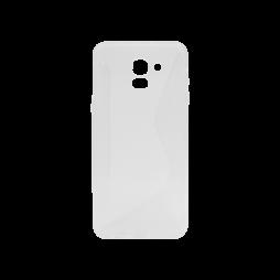 Samsung Galaxy J6 - Gumiran ovitek (TPU) - belo-prosojen CS-Type