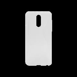 LG Q7 - Gumiran ovitek (TPU) - belo-prosojen CS-Type