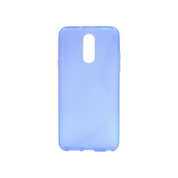 LG Q7 - Gumiran ovitek (TPU) - modro-prosojen CS-Type