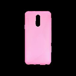 LG Q7 - Gumiran ovitek (TPU) - roza-prosojen CS-Type