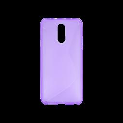 LG Q7 - Gumiran ovitek (TPU) - vijolično-prosojen CS-Type