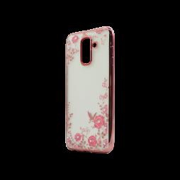 Samsung Galaxy A6+ (2018) - Gumiran ovitek (TPUE) - roza rob - roza rožice