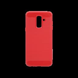 Samsung Galaxy A6+ (2018) - Gumiran ovitek (TPU) - rdeč A-Type