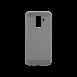 Samsung Galaxy A6+ (2018) - Gumiran ovitek (TPU) - siv A-Type