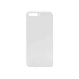 Huawei Y6 (2018) - Gumiran ovitek (TPU) - belo-prosojen MATT