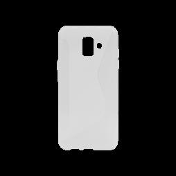 Samsung Galaxy A6 (2018) - Gumiran ovitek (TPU) - belo-prosojen CS-Type