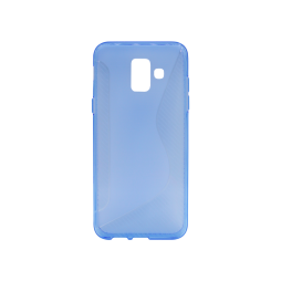 Samsung Galaxy A6 (2018) - Gumiran ovitek (TPU) - modro-prosojen CS-Type