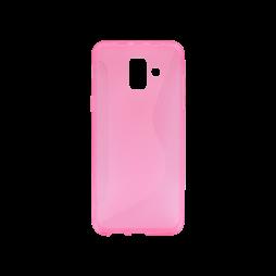 Samsung Galaxy A6 (2018) - Gumiran ovitek (TPU) - roza-prosojen CS-Type