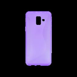 Samsung Galaxy A6 (2018) - Gumiran ovitek (TPU) - vijolično-prosojen CS-Type