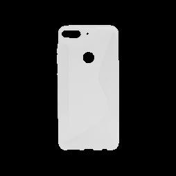 HTC Desire 12+ - Gumiran ovitek (TPU) - belo-prosojen CS-Type