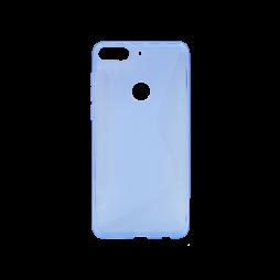 HTC Desire 12+ - Gumiran ovitek (TPU) - modro-prosojen CS-Type