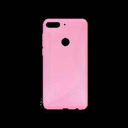 HTC Desire 12+ - Gumiran ovitek (TPU) - roza-prosojen CS-Type