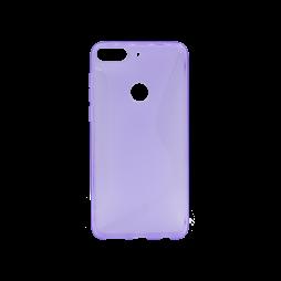 HTC Desire 12+ - Gumiran ovitek (TPU) - vijolično-prosojen CS-Type