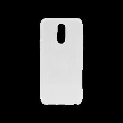 LG Q7 - Gumiran ovitek (TPU) - belo-prosojen svetleč