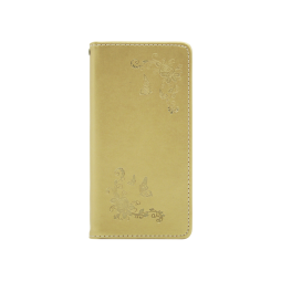 Samsung Galaxy J6 - Preklopna torbica (WLGO-Butterfly) - zlata