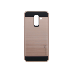 Samsung Galaxy A6+ (2018) - Gumiran ovitek (ARM-01) - roza-zlat