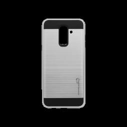 Samsung Galaxy A6+ (2018) - Gumiran ovitek (ARM-01) - srebrn
