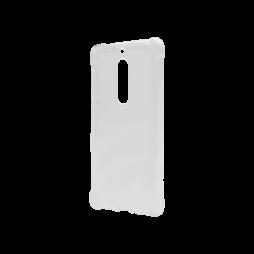 Nokia 5 - Gumiran ovitek (TPU) - prosojen svetleč - ojačan rob