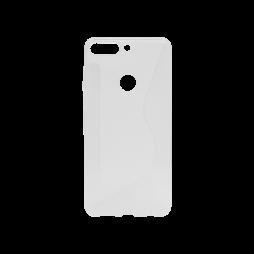 Huawei Y7 Prime (2018) - Gumiran ovitek (TPU) - belo-prosojen CS-Type