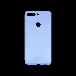 Huawei Y7 Prime (2018) - Gumiran ovitek (TPU) - modro-prosojen CS-Type