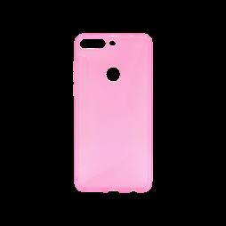 Huawei Y7 Prime (2018) - Gumiran ovitek (TPU) - roza-prosojen CS-Type