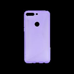 Huawei Y7 Prime (2018) - Gumiran ovitek (TPU) - vijolično-prosojen CS-Type