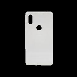Xiaomi Mi Mix 2s - Gumiran ovitek (TPU) - belo-prosojen svetleč