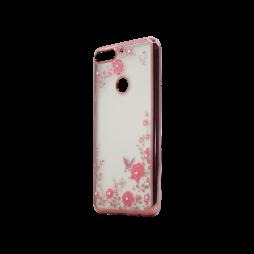 Huawei Y7 Prime (2018) - Gumiran ovitek (TPUE) - roza rob - roza rožice