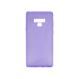 Samsung Galaxy Note 9 - Gumiran ovitek (TPU) - vijolično-prosojen CS-Type