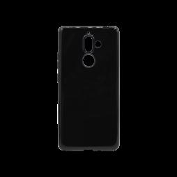 Nokia 7 Plus - Gumiran ovitek (TPU) - črn svetleč