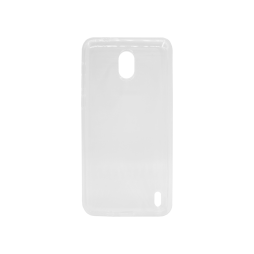 Nokia 2 - Gumiran ovitek (TPU) - belo-prosojen svetleč