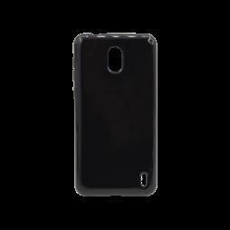 Nokia 2 - Gumiran ovitek (TPU) - črn svetleč