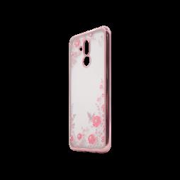 Huawei Mate 20 Lite - Gumiran ovitek (TPUE) - roza rob - roza rožice