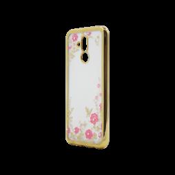Huawei Mate 20 Lite - Gumiran ovitek (TPUE) - zlat rob - roza rožice