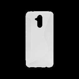 Huawei Mate 20 Lite - Gumiran ovitek (TPU) - belo-prosojen CS-Type