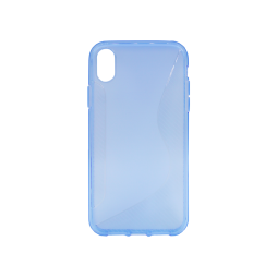 Apple iPhone XR - Gumiran ovitek (TPU) - modro-prosojen CS-Type