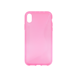 Apple iPhone XR - Gumiran ovitek (TPU) - roza-prosojen CS-Type