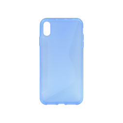 Apple iPhone XS Max - Gumiran ovitek (TPU) - modro-prosojen CS-Type