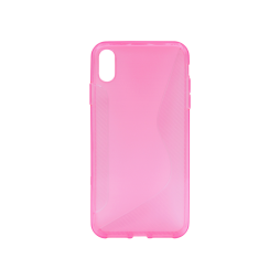 Apple iPhone XS Max - Gumiran ovitek (TPU) - roza-prosojen CS-Type