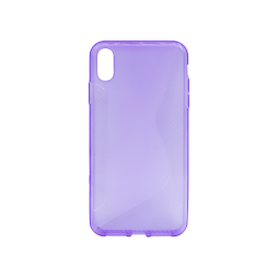 Apple iPhone XS Max - Gumiran ovitek (TPU) - vijolično-prosojen CS-Type