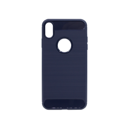 Apple iPhone XS Max - Gumiran ovitek (TPU) - moder A-Type